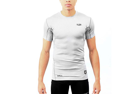 1st round energydna reaction shirt - men's- Save 50% Off - 1st Round's signature base layer products, the Smart Shield Compression line was developed for the high level athlete or weekend warrior who is ready to take their game to the next level. Founded with performance enhancing energyDNA technology, the Reaction Shirt will have your body performing the same in the 4th quarter as it did it the 1st.  Features:  - Smart Shield Compression technology  - energyDNA technolog enhances performance  - Short sleeve  - Athletic fit