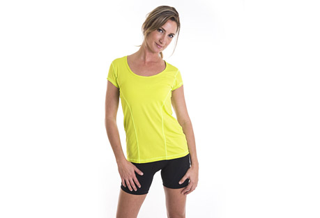alii sport classic run tee -  women's- Save 65% Off - A soft, loose fitting, technical run T.  Athletic, performance, comfort! This is the kind of T that feels soft, and yummy on your skin. Wear it on your run or as you go about your day  Features:  - Softest Italian jersey fabric  - Looser fit  - Super comfortable and easy to layer  - Small hidden pocket for valuables