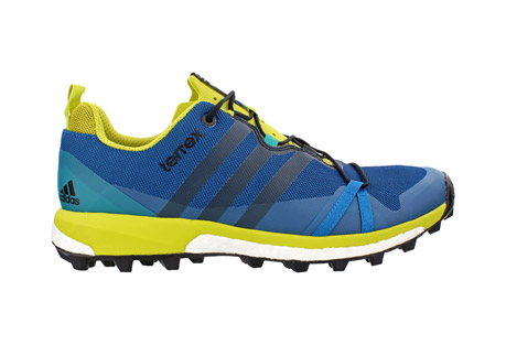 adidas terrex agravic shoes - men's- Save 31% Off - Light, fast and stable, this trail running shoe has Boost(TM) endless energy return to push your limits and conquer mountain trails. A breathable EVA tongue provides comfort. The Continental(TM) Rubber bike tire outsole tread gives it extraordinary grip.  Features:  - Mesh upper with abrasion resistant weldings for protection.  - Boost(TM) cushioning offers endless energy in the mountains and high adaptability on rocky surfaces.  - Continental rubber outsole with a lug pattern inspired by the Der Kaiser tire for extraordinary grip  - 5.5mm lug height.   - 60a outsole rubber hardness.  - 6.5mm drop  - Fall/Winter 2016 - Discontinued Style