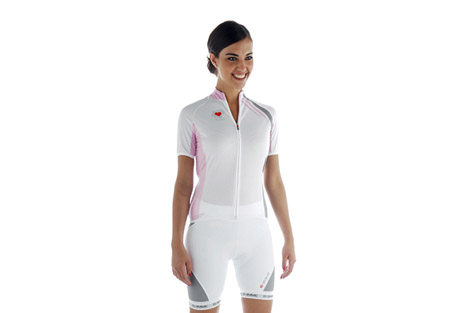 biemme strips cycling jersey - women's- Save 55% Off - Features:  - Made in B-Square fabric with stretch side panels and inserts  - Short sleeve jersey  - Full front zip  - 3 Open back pockets  - Race fit  - Made in Italy