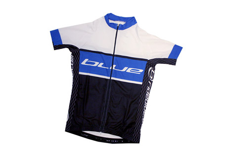 blue competition cycles short sleeve jersey- Save 52% Off - Features:  - Short Sleeve Jersey  - Full zip down front  - Elastic at bottom of jersey  - 3 Storage pockets in back  - 1 zip pocket