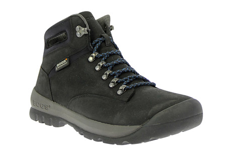 bogs tumalo boots - men's- Save 42% Off - Get out on the trail with the Tumalo Hiking Boot. 100% waterproof nubuck upper and a BioGrip lug outsole with cushioning Rebound technology make for a trail boot that will keep you moving with confidence and comfort.  Features:  - 100% Waterproof  - Constructed with durable genuine nubuck leather  - Lined with EverDry to absorb and evaporate sweat  - BioGrip hiking lugged outsole provides traction and stability  - Easy-lace eyelets  - Dual-density, contoured EVA footbed with DuraFresh  - Rebound technology in outsole provides extra comfort  - Bogs Stabilizer provides natural fit and support  - Average weight 3.96 lbs. per pair