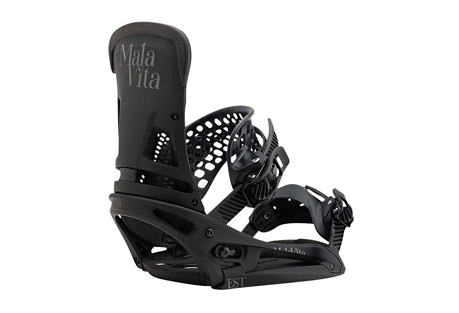 burton malavita est bindings 2017- Save 9.% Off - Quickly becoming the go-to binding for the Burton team and beyond, the Malavita balances full wrap response around your boots with a mid-range flex that's 100% focused on freestyle. Features like the Heel Hammock, Super Grip Capstrap(TM) and Asym Hammockstrap(TM) dial in response to the on-snow la vida of riders like McMorris, Davis, and Hale. Pair the EST(R) model (which features the fluid mobility of The Hinge) with a Burton board featuring The Channel(TM) mounting system for the ultimate in flex, feel, and adjustability.   Features:  - Dual-Component Baseplate construction creates a ride that is softer underfoot, yet stiffer edge to edge for a perfect balance of response and board feel.  - 30% Short-Glass/Nylon Composite Spar  - 30% Short-Glass/Nylon Composite Lower  - Canted Living Hinge(TM)  - Zero-Lean Hi-Back  - Heel Hammock  - DialFLAD(TM)  - Asym Hammockstrap(TM)  - Flex Slider  - Supergrip Capstrap(TM)  - Double Take Buckles Featuring Insta-Click for immediate engagement, faster uptake, and fewer cranks to tightness.  - AutoCANT SensoryBED(TM) Cushioning System  - B3 Gel for unstoppable impact protection.  - Discontinued Style/Color