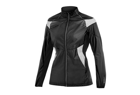 craft pr brilliant jacket - women's- Save 54% Off - Craft Size Chart   A lightweight, wind-protective 360 high-vis jacket. The ergonomic fit allows for freedom of movement without restriction. Includes zippered back pockets for keys and MP3 players.  Features:  - High-visibility jacket for safe running in dark conditions  - Lightweight fabric with excellent wind protection and light water repellency  - Ergonomic fit for optimal freedom of movement  - Ventilation panels at back, on side and under arms.  - Reflective parts with ventilation  - Zippered music and key pocket at back  - 360 degrees visibility