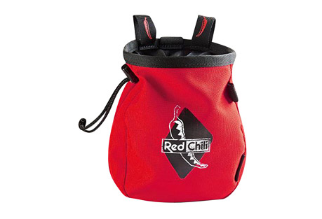 red chili giant chalk bag - red- Save 33% Off - THE NEW GIANT CHALKBAG!Big, bigger, GIANT! Logo batch, incl. belt! Drawstring with a cinch stop keeps your chalk in the bag.