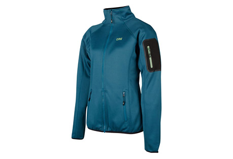 cirq lucy tech fleece jacket - women's- Save 70% Off - This medium weight tech fleece jacket is designed to preform underneath your favorite shell to provide extra warmth and comfort when frigid temperatures threaten your adventure. A handy arm pocket is designed to keep your essentials close at hand as you are climbing peaks and traversing ridge lines.   Features:  - 100% Polyester Tech Fleece  - Brushed Tricot Lined Chin Guard  - Raglan Sleeve For Range of Motion  - 2 Zipper Handwarmer Pockets  - 1 Bonded Zipper Arm Pocket  - Elastic Waistband & Cuffs  - YKK Premium Zippers