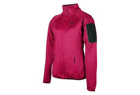 cirq lucy tech fleece jacket - women's- Save 66% Off - This medium weight tech fleece jacket is designed to preform underneath your favorite shell to provide extra warmth and comfort when frigid temperatures threaten your adventure. A handy arm pocket is designed to keep your essentials close at hand as you are climbing peaks and traversing ridge lines.   Features:  - 100% Polyester Tech Fleece  - Brushed Tricot Lined Chin Guard  - Raglan Sleeve For Range of Motion  - 2 Zipper Handwarmer Pockets  - 1 Bonded Zipper Arm Pocket  - Elastic Waistband & Cuffs  - YKK Premium Zippers