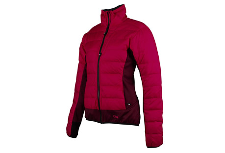 cirq may down jacket - women's- Save 70% Off - This premium down hybrid jacket is intended as a midlayer that provides powerful down insulation just where you need it. Tech fleece panels are strategically placed to allow moisture to evaporate and to provide premium stretch for a full range of motion. Pair the May Down Jacket with a shell jacket to stay fast and light on your next alpine expedition.   Features:  - 90/10 Premium Goose Down  - 700 Down Fill Power  - Shell: 2OD 100% Polyester Down Proof Mini Ripstop (Camo: 100% Nylon Down Proof Mini Ripstop)  - Teflon DWR Coating   - Tech Fleece: 100% Polyester  - Brushed Tricot Lined Chin Guard  - Discrete Thumb Holes  - Elastic Waistband  - 2 Zipper Handwarmer Pockets  - 1 Zipper Chest Pocket  - YKK Premium Zippers