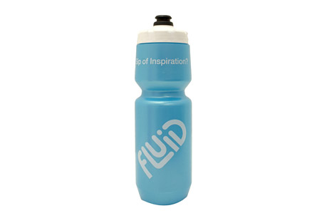 fluid purist water bottle - 26oz- Save 33% Off - Made by Specialized Bicycles, these are the best water bottles in the industry. They are 26oz bottles with wide mouth opening for ice cubes or Fluid scoopers! These are the perfect bottle for your bike, backpack, or gym bag. Fluid bottles are indeed BPA FREE, LDPE #4 Food grade plastic. No harmful chemicals leaching from these babies! Bottle, cap, and poppet fully comply with FDA and European health standards, California Prop 65 and Japan Food Hygiene regulations.  Features:  - The Purist(TM) inner surface uses a flexible glass-like infusion to keep your water pure and your bottle clean  - Large screw-top design is leak-free and wide enough for ice cubes and powder drink mix  - New MoFlo cap design features a wide water channel to deliver up to 50% greater flow than other leading bottles, plus improved functional outside grip  - Made from easy-to-squeeze, LDPE material  - Clear viewing strip makes it easy to see contents  - BPA-free plastic made from 100% FDA food-grade materials and printed with non-solvent base (UV cured), CPSC-approved ink and materials