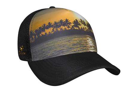 headsweats beachy 5-panel trucker hat - women's- Save 50% Off - If you're looking for a custom mesh trucker hat that you can wear on vacation, or a performance hat that you can wear at the gym, then this 'Beachy' Trucker might just be the perfect choice for you. This snapback trucker hat is made of Eventure(TM) woven and stretch fabrics, making it lightweight and breathable, and it will fit comfortably and dry quickly every time you wear it. The vibrant beach design and unique sublimation will make your friends ask where you got your cool new trucker hat. The terry sweatband wrapped in Eventure knit will keep the sweat off out of your eyes, you're sure to love wearing this hat on the beach, on the trail, or wherever life takes you. Order your new trucker hat today!  Features:  - Traditional 5-panel Trucker styling  - Eventure woven shell  - Eventure terry sweatband wrapped in Eventure knit  - Eventure sandwich stretch mesh back  - Black undervisor to reduce glare  - Snap back closure with ponytail opening  - One size fits most