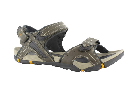 hi-tec altitdue lite strap sandals - men's- Save 50% Off - The all-new Altitude Lite Strap is an exciting addition to the best-selling Hi-Tec Altitude collection! This versatile men's summer sandal features a durable leather look upper for support and durability while a detachable back strap ensures great versatility, offering a slip on/convertible option. The soft neoprene lining provides padding and protection for all day comfort. Underfoot, the sculpted EVA footbed provides incredible underfoot cushioning and a lightweight fork shank ensures stability on uneven terrain. The Multi-Directional Traction (MDT) rugged rubber outsole provides grip and durability.  Features:  - EVA Midsole  - Lightweight Build  - Lightweight Fork Shank  - Multi-Directional
