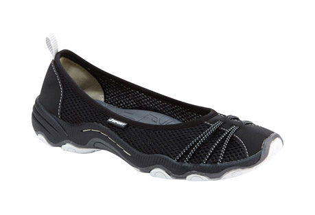 j-sport spin encore slip-on's - women's- Save 42% Off - All the style of a ballet flat, with the added benefits of all-day cushioning and breathability. With lightweight mesh and vegan microbuck around your feet, the Spin Encore's elegant silhouette is rugged enough to handle any warm-weather treks you may embark on. A quick-drying, open mesh upper lets you wear the Spin Encore in and out of the water as well.  Features:  - Mesh/Microbuck upper  - Partially recycled rubber All-Terra outsole  - Antibacterial footbed  - Water Ready  - Slip on  - Weight: 6.83 oz