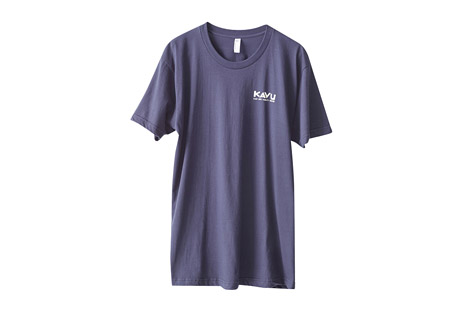 kavu paddle on tee - men's- Save 46% Off - KAVU Size Chart  The Paddle On Tee is made of 100% cotton, with a ribbed crew neck and casual fit. It features a front logo and back printed graphics. A great off-the water shirt for paddle sports enthusiasts.   Features:  - Crew neck  - Casual fit  - Printed graphics  - 100% cotton jersey knit