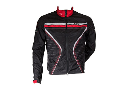 louis garneau prolight jacket - men's- Save 10% Off - Louis Garneau Men's Size Chart  Lightweight, stowable jacket. Perfect for training features a 2-way zip with inner flap, back reflective tape, and moisture wicking properties.   Features:  - Pro Fit: Close to the body. Performance cut with comfort in mind.  - Microzone fabric: Lightweight and resistant, this fabric is an excellent breathable windbreaker. WR (water repellent) finish to protect against the elements. Very Light weave: 100% polyester microfilament.  - Lower back in Light Micro-Airdry: Made of small inner honeycombs to increase airflow and wick moisture. This knit has a UPF/SPF 30. 2-way mechanical stretch knit: 100% polyester microfiber.  - Front length, medium size: 24''/ 61 cm  - Raglan sleeves  - Side panels  - 3 back pockets with reflective trim  - Full length two way zip with garage and inner flap  - Elastic at wrists  - Signature silicone gripper at hem  - Fully sublimated  - Overlock seams  - GARNEAU back reflective accent