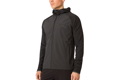 mpg off the grid run jacket - men's- Save 55% Off - MPG Men's Size Chart  An intuitive design, this middle weight jacket is finished in a flex woven fabric for ultimate comfort. A mesh liner and ventilation in the back and under the arms prevent overheating. Smart design elements include a hood that's easily secured in place, 360-degree reflectivity for night runs, and a water-resistant membrane to keep you dry.  Features:  - Multi storage pockets  - Water resistant   - Back and arm ventilation  - Hood can be rolled down and tabbed in place  - 360 reflectivity  - Cinchable hood and hem  - Mesh lined interior  - Main Fabric: Stretch Woven 88% Nylon 12% Spandex  - Trim: Flex Woven 84% Polyester 16% Spandex  - Lining: Woven Mesh 100% Polyester