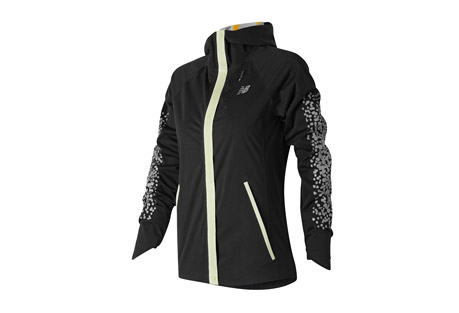new balance beacon jacket - women's- Save 32% Off - New Balance Women's Apparel Size Chart  You run no matter the conditions, so you should enjoy the ultimate running jacket. The New Balance(R) Beacon Jacket is a waterproof 2.5 layer shell with innovative and stylish NB GLOW trim and bonded reflective print to provide 360deg of visibility at night. An internal knit cuff with thumbhole and adjustable hood with visor prepares you for anything that comes your way. Zippered hand and chest pocket store essentials for a match made in running heaven.  Features:  - 100% Polyester  - Waterproof 2 Layer Shell  - Taped seams with glow trim on front and glow logo down back  - NB Dry Moisture wicking releases moisture away from the body and is fast drying  - Fully constructed hood with visor  - Chest and hand pockets  - Knit gaiter with thumbholes  - Reflective design  - Athletic Fit