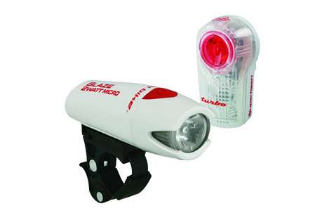 planet bike blaze 2 watt micro / superflash light set- Save 26% Off - High and low power beam along with Superflash flashing mode. Up to 64 hours run time (flashing) on 2 AA batteries included. QuickCam bracket mounts, adjusts or removes without tools.  Features:  - 1 Watt Power LED plus 2 red LEDs for visibility up to 1 mile  - Attention-grabbing Turbo flash pattern even in day light  - Optimized electronics yield greater durability  - Improved burn time and light output as batteries fade  - Soft touch button has affirmative feel, even with gloves on  - Up to 100 hours of run time on 2 AAA batteries included  - Lumens: 146