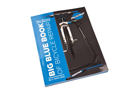 park tool bbb-3: big blue book bicycle repair and maintenance guide- Save 3.% Off - Updated with new information, techniques, photos, procedures, and components, the BBB-3 3rd Edition is a complete repair manual created to provide both the novice and veteran mechanic the information needed to perform nearly any repair from trailside repairs to complete overhauls. Written by Park Tool Director of Education, Calvin Jones, the Big Blue Book is the perfect reference guide and step-by-step repair manual for nearly any bike, including road, mountain, bmx, and single-speed. We wrote the book on bicycle repair.  Features:  - Thru-axle systems  - Tubeless tire conversion systems  - 11-speed SRAM(R) XX1(R) freehub removal/installation  - BB30 crankset system  - PF30 bottom bracket system  - Specialized(R) S-Works(R) cranks  - Campagnolo(R) Power Torque(TM) systems  - BB86 and BB92 bottom brackets  - 11-speed chains  - 11-speed Campagnolo(R) chain installation  - 11-speed derailleurs  - Shimano(R) Di2(R) electronic shifting  - Campagnolo(R) EPS(R) electronic shifting  - SRAM(R) Red(R) derailleur adjustments  - Shimano(R) 9000 derailleur adjustments  - SRAM(R) and Shimano(R) clutch type rear derailleurs  - Tektro(R) hydraulic brakes  - Headset standards and SHIS standards  - Updated torque tables  - Updated tool tables