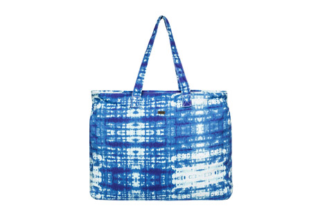 roxy single water b beach tote- Save 45% Off - The Single Water B Tote has space for everything you need for a day at the beach. Made of cotton canvas, it is washed for softness and features a tie dye pattern. The top zips closed to keep your cargo secure, and an interior patch pocket provides organization.  Features:  - Washed cotton canvas  - Zip top closure  - Inside patch pocket  - Metal plate  - Size: 16