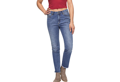 Roxy Lost My Head High-Waist Straight Fit Jeans - Women's