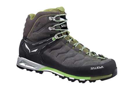 salewa mountain trainer mid gtx boots - men's- Save 24% Off - Classic, medium-high boot for via ferrata, technical hiking and trekking. The 360deg full-rubber rand protects the hard-wearing nubuck upper from scuffs and scrapes. The waterproof, breathable Gore-Tex lining ensures dryness that lasts and a high level of comfort. The Vibram Alpine Approach sole guarantees the necessary grip. Features a Multi-Fit footbed and Climbing Lacing that extends right to the front of the foot for accurate fit, as well as firm ankle and heel support with the 3F System.  Features:  - Nubuck leather upper with rubber rand for protection  - Waterproof GORE-TEX lining  - Vibram outsole  - Multi-fit footbed with two interchangeable layers for a custom fit  - Climbing-style laces  - 3F system provides support