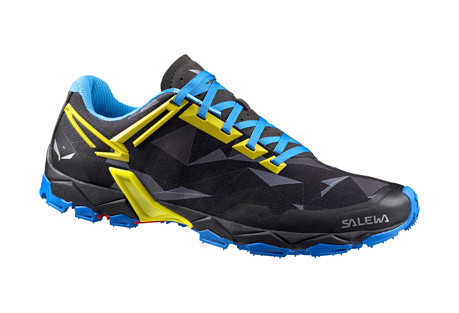 salewa lite train shoes - men's- Save 22% Off - The Lite Train is specifically designed for mountain training, a new product concept from SALEWA. Developed in partnership with MICHELIN(R) Technical Soles, the design is focused on total grip and saving weight. The aggressive lugged outsole ensures perfect traction, so you can concentrate on your training and enjoy the mountains, whether rapid hiking, technical trail running or uphill interval training. The shoe is built around MICHELIN(R)'s Lite Train outsole, which was developed exclusively with SALEWA. Its special Outdoor Compound has a sculpted and grooved design, inspired by mountain biking tires, that delivers excellent slope-crossing traction and optimal adaptability on soft and uneven terrain. Additionally, SALEWA's 3F Total System provides additional support to the mid foot by extending the 3F System into the lacing area. This increases stability and gives a more precise fit.  Features:  - 3F Total System provides additional support to your foot by connecting the 3F System to your shoe's lacing area. This connection ensures optimal comfort, stability and increases foot control where needed.  - Michelin Lite Train outsole  - Breathable mesh upper and lining  - Image of sole does not reflect actual color