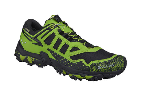 salewa ultra train gtx shoes - men's- Save 31% Off - The Ultra Train is specifically designed for mountain training, a new product concept from SALEWA. Developed in partnership with MICHELIN(R) Technical Soles, the design is focused on excellent traction and stability. The aggressive lugged outsole ensures perfect traction, so you can concentrate on your training and enjoy the mountains, whether rapid hiking, long-distance technical trail running or uphill interval training. The shoe is built around MICHELIN(R)'s Ultra Train outsole, which was developed exclusively with SALEWA. Its special Outdoor Compound has a sculpted and grooved design, inspired by mountain biking tires, that works with the midsole's Motion Guidance technology to support the foot's natural movement on uneven terrain. In addition, Adaptive Eyelets and SALEWA's 3F Total System add support to the mid foot by extending the 3F System into the lacing area. This increases stability and ensures a more precise wrapping fit.  Features:  - The sole and midsole are developed in synergy to support the natural movement of the foot and provide excellent sure-footedness over any terrain.  - 3F Total System provides additional support to your foot by connecting the 3F System to your shoe's lacing area. This connection ensures optimal comfort, stability and increases foot control where needed.  - Adaptive eyelets increase the overall wrapping fit and comfort of the mid-foot.  - Breathable mesh upper  - Image of sole shown in alternate color