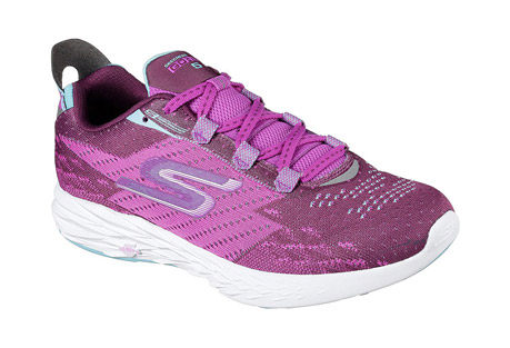 skechers go run 5 shoes - women's- Save 42% Off - The Skechers GOrun 5(TM) is the 5th generation in the Skechers GOrun(R) series of running shoes. Designed for speed, it's responsive, supportive and lightning fast. The upper uses gore construction to minimize the number of seams for an adaptive fit, with mesh for breathability and reinforced eyelets for durability. The midsole features 5GEN cushioning for a responsive ride and a 4mm drop for a more natural stride. The GoRun 5's web outsole provides lightweight traction, with a mid-foot strike zone for improved efficiency.  Features:  - Skechers GOknit(TM) upper provides security while maintaining breathability and comfort  - Secure gore construction for a seamless fit that hugs your foot  - Lightweight, responsive 5GEN(R) cushioning  - Integrated inner support strap in the midfoot ensures a stable and secure fit  - Mid-foot strike zone promotes efficiency in each stride  - Lightweight and durable parametric web outsole provides multi-surface traction  - Air mesh tongue with elastic tongue-position keeper straps for stable and secure fit  - Quick Fit feature for easy accessible on and off  - Reflective detail  - Circular knit one piece upper provides a perfect fit  - Knit-in design for distinctive look  - Side S logo  - Reinforced lacing area with top eyelet for custom lacing options  - Offset: 4mm  - Forefoot 12mm, heel 16mm midsole thickness  - Weight: 6.0 oz. per shoe in a women's size 7