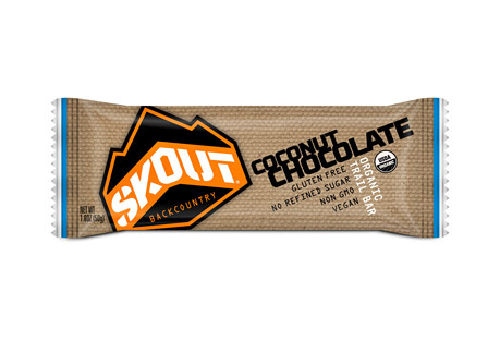 skout backcountry chocolate coconut trailbar - box of 12- Save 22% Off - The unsweetened dark chocolate in this delicious Trailbar brings a great source of flavonol antioxidants. In addition to making a great pairing with chocolate, coconut also brings an abundance of vitamins and minerals. The dates, oats and almonds give the Trailbar a superior texture as well as add numerous health benefits.  Features:  - Certified Organic  - Certified Gluten Free  - Non-GMO Project Verified  - Naturally Occurring Nutrients  - No Refined Sugar or Fillers  - Certified Kosher  - Vegan  - Dairy & Soy Free
