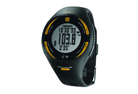 soleus gps pulse + hrm watch- Save 58% Off - Keep racing with the Soleus GPS Pulse wrist-based heart rate monitor. The GPS Pulse measures your heart rate while on your wrist, no need for a chest strap. The rechargeable unit allows you to customize 3 view-able lines of data that track your speed, distance, pace, and heart rate. Set up to 6 interval timers, count calories, and store and review your date for later review.  Features:  - GPS: High-sensitivity receiver  - Distance: Current / total miles or kilometers  - Pace / Speed: Current / average in mph or kph  - Heart Rate Monitor  - Optical Sensor: Wrist based heart rate sensor  - HRM Zones: Personalized heart rate setting  - 6 Interval Timers: Set of individual training timers  - Calories Burned:  Current / total kcal  - Auto-Lap: Detects mile splits automatically  - Data Upload: Upload via integrated USB  - Data Storage: 100 lap memory  - Large Digits: Easy to read display at a glance  - Chronograph: 1/100 second accuracy  - Rechargeable Battery: Lithium-ion recharge via USB  - EL Backlight: Soft glow for low light conditions  - Night Mode: Always-on safety glow  - 30m Water Resistant  Dimensions:  - Case Height: 45mm  - Case Width: 45mm  - Case Depth: 16.5mm  - Strap Width: 21mm  - Weight: 2.0 oz.