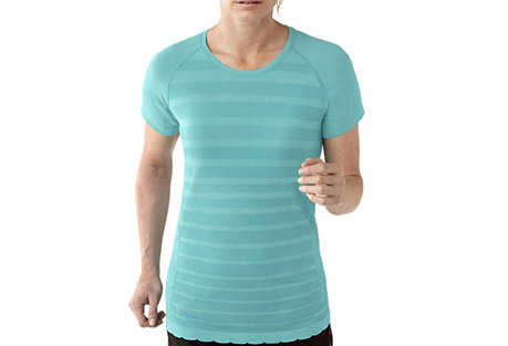 smartwool phd run ss crew - women's- Save 50% Off - Smartwool Size Chart  When you're running, the last thing you want to think about is chaffing. That's why Smartwool has engineered this garment to remove things like irritating underarm seams so you can keep your mind on your run.  Features:  - Knit in Turkey of 79% Merino Wool, 21% Nylon  - Semi-Form Fit  - Seamless construction for ultimate comfort; UPF 30  - Strategically designed raglan sleeves remove underam seams to eliminate chafing  - Varied knit textures for ventilation and body enhancing fit  - Flatlock seam construction throughout  - 360deg reflectivity  - Last Chance: Discontinued Style  - Only available to ship within the USA