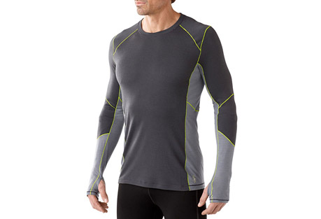 smartwool phd light long sleeve shirt - men's- Save 38% Off - Having the right gear can mean the difference between going the extra mile and heading in early. Smartwool's PhD(R) Light fabric blend helps regulate temperature and manage moisture, plus offers greater stretch and recovery and a quicker dry time than Merino alone.  Features:  - Regular Fit  - Warmer Merino/polyester blend helps fabric move moisture, dry quickly, and maintain its shape in high-sweat activites in colder weather  - Minimal Merrow seam construction provides superior durability and is soft against skin  - Gender-specific body-mapped mesh panels for additional breathability and moisture management  - Knit in Vietnam: Body: 56% Merino Wool, 44% Polyester; Mesh: 54% Merino Wool, 46% Polyester  - Last Chance: Discontinued Style  - Only available to ship within the USA