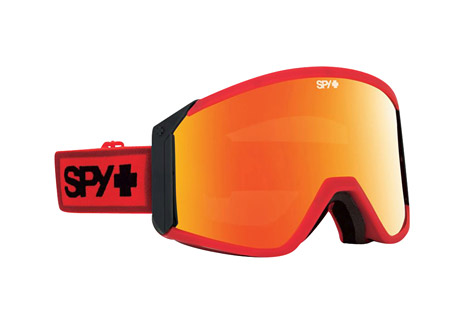 spy optic raider goggles- Save 42% Off - Raise the flag, get ready to plunder, and unsheathe this oversized cylindrical goggle with a vengeance. Massive Scoop(R) vents and a bonus lens give you the edge in any situation.  Features:  - Frame Color:  Red/Black  - Primary Lens:  Bronze with Red Spectra  - Secondary Lens:  Persimmon  - Built from flexible polyurethane  - Features the Scoop(R) ventilation system  - Anti-fog cylindrical dual-lens with anti-scratch protection  - Free bonus lens  - Triple-layer Isotron(TM) face foam with moisture-wicking Dri-Force(TM) fleece  - Silicone-ribbed strap  - 100% UV protection  - Helmet compatible with the most popular helmets on the planet.  - Last Chance: Discontinued Style