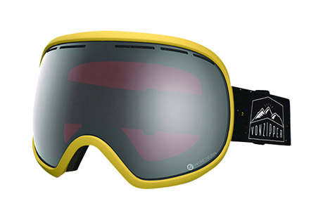 vonzipper fishbowl goggles- Save 57% Off - The biggest fish in the pound the Fishbowl is at the top of the goggle food chain. Fishbowl will remain comfortable and flexible in all snow conditions so you can be a fresh fish.   Features:  - Frame Color: Soft Yellow Satin  - Lens Color: Persimmon Chrome  - Ergonomic frame design  - Thermopolyurethane injection molded frame  - 100% UV Protection  - Supersized Dual Spherical Polycarbonate lens  - Maximum peripheral vision  - Polar fleece lined triple density face foam  - Oversized dual adjustable strap  - Helmet Compatible