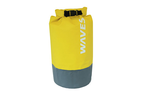 waves gear infinite dry bag- Save 41% Off - Keep your gear safe and secure from the elements with the Waves Infinite Dry Bag. Easy roll-top closure and thermal heated seams provide complete waterproof protection. Durable and rugged 500D PVC is odor and stain resistant. An adjustable and removable shoulder strap, side handle and D-rings provide various ways to carry and tie down. Perfect for boating, kayaking, paddleboarding, rainy weather, beach days, and the list goes on.  Features:  - Capacity: 30 Liters  - Empty Weight: 1lbs 4 oz  - Closed Dimension: 9.5