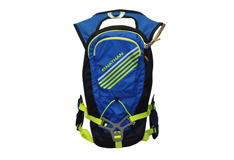 nathan grit 2l hydration vest- Save 47% Off - The Grit offers all the fabulous features of the iconic Nathan best-seller, now updated with lighter-weight materials and a new shape. This hydration vest utilizes Nathan's Patented 3-way Propulsion system that stabilizes movement, providing a smooth, bounce-free ride. The central packs hold up to a 2L bladder, as well as 6L of dry storage.  Features:  - Patented 3-way Propulsion HarnessTM stabilizes side-to-side/up-down movement of bladder and other contents for a bounce-free ride  - Highly breathable wall mesh shoulder straps  - Slide-adjustable chest strap for perfect placement and bounce-free ride  - Front bottle pocket and front zip smart phone-compatible pocket  - Mesh stash pocket over left front pocket fits several gels  - Rear external shock cord for increased capacity  - Internal rear stash pocket and key ring clip  - Easy on/off with full side adjustability  - Reflective trims  - 2L liquid /6L dry storage Only available to ship within the U.S