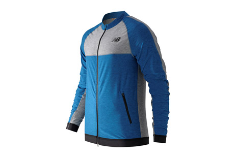 new balance n transit track jacket - men's- Save 55% Off - The N Transit Track Jacket is perfect for when you're on the go - and want to be noticed. Made of a soft knit fabric with elastane fiber, it has a snug fit while a modified collar and color blocking give it style. The men's fitness N Transit Track Jacket has a 2-way zipper and Y-fold cuff for versatile and stylish ventilation. Plus, NB DRY technology wicks sweat away fast, helping you stay comfortable as you move through the day.   Features:  - Material: 87% Polyester and 13% Spandex  - Athletic fit  - Shark reflective details  - Two way front zipper  - Y-fold elastic  - Zipper enclosed pockets