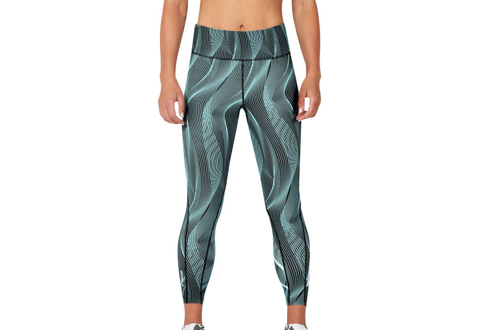 a6c5552d4c 2XU Mid-Rise Print Compression 7/8 Tights - Women's   The Clymb
