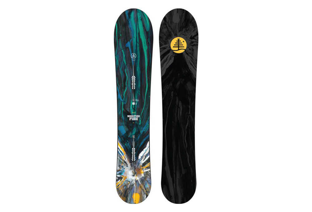 Burton modified fish snowboard 2016 the clymb for Burton modified fish