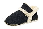 GaaHuu Faux Wool Felted Ankle Slipper Boots - Women's