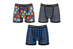 Warriors & Scholars Laurel Moisture Wicking Boxer Briefs 3-Pack - Men's