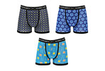 Warriors & Scholars Tripp Moisture Wicking Boxer Briefs 3-Pack - Men's