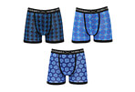 Warriors & Scholars Gordon Moisture Wicking Boxer Briefs 3-Pack - Men's