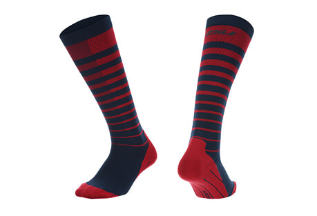 2XU Striped Run Compression Socks - Women's