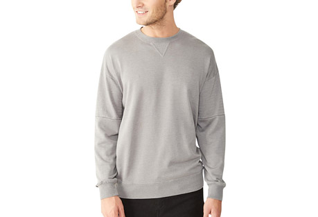 Alternative Apparel Lt French Terry Crew Quilted Sweatshirt - Men's