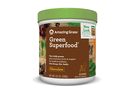 Amazing Grass Chocolate Green SuperFood Canister - 30 Servings