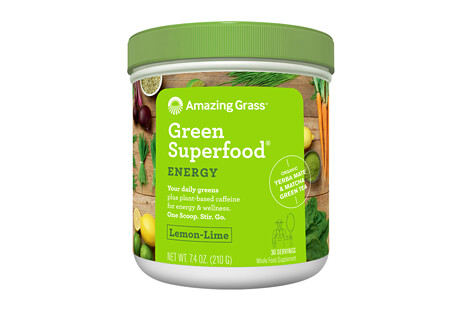 Amazing Grass Energy Lemon Lime Green SuperFood Canister - 30 Servings