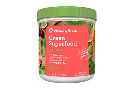 Amazing Grass Energy Watermelon Green SuperFood Canister - 30 Servings