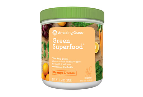 Amazing Grass Orange Dream Green SuperFood Canister - 30 Servings