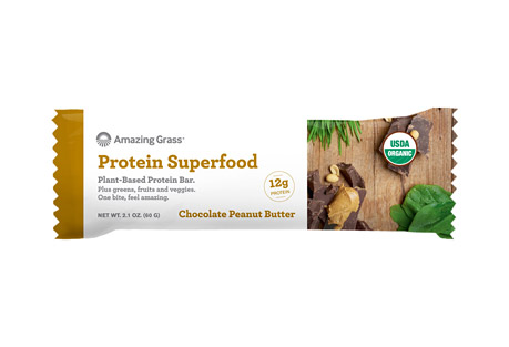 Amazing Grass Protein Chocolate Peanut Butter Bar - Box of 12